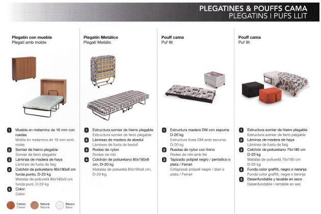Plegatines y Poufs